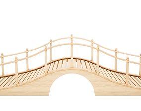 connection 3D model VR / AR ready Wooden bridge
