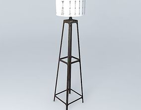 Floor Lamp Louis Loft 3D
