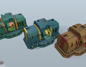 3D asset Sci-fi energy nodes