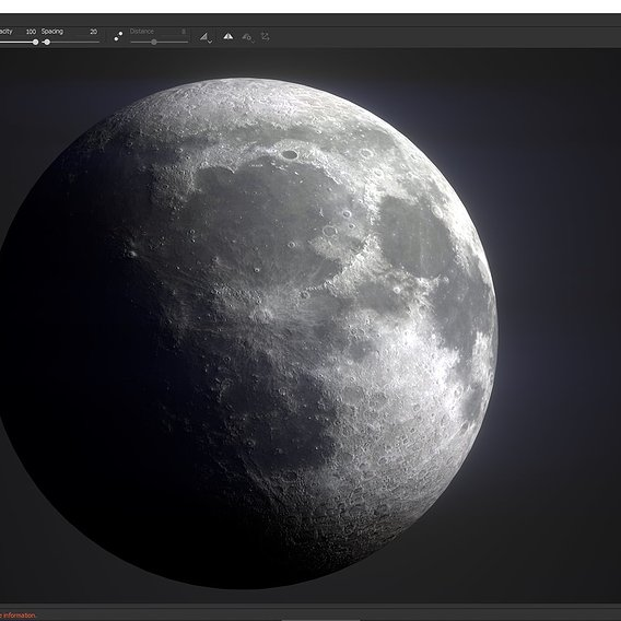 Photorealistic Moon Low-poly 3D model