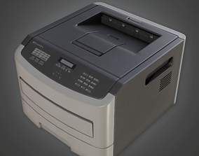 3D model CLA - Fax Machine - PBR Game Ready
