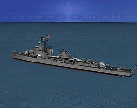3D model Gearing Class Destroyer DDR-874 USS Duncan