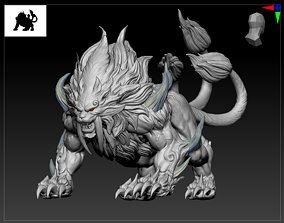 lion variation beast animal sacred zbrush 3D