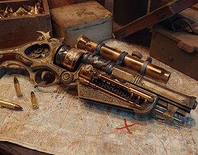 Steampunk Gun - Queens Tender 3D model