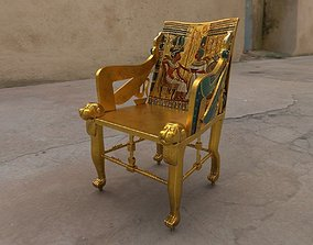 3D model game-ready Egyptian Chair