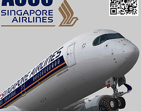 3D model Airbus A350-900 XWB Singapore Airlines