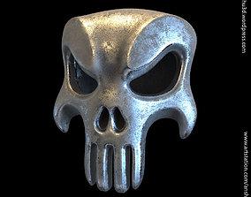 The punisher skull vol1 pendant 3D printable model