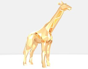 Polygonal Giraffe Parametric 3D print model