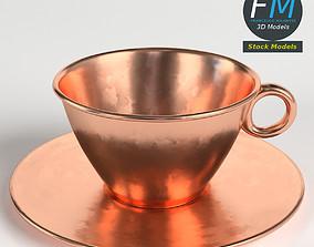 Pure copper tea cup 3D