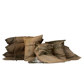 Old Medival Sack Pack 3D model