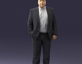 Fat man gray suit 0517 3D Print Ready
