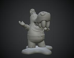 cartoon Hippopotamus 3D printable miniature