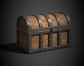 3D model animated Treasure Chest