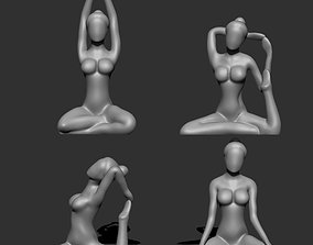 Yoga for decoration 3d model for print