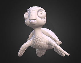 Turtle Sea turtle cartoon 3D print model