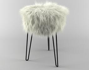 3D model Fur stool