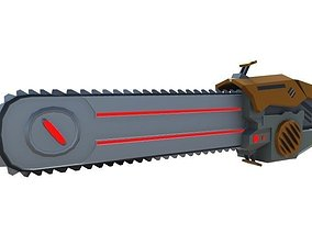Chainsaw Sci-Fi Weapon 3D model