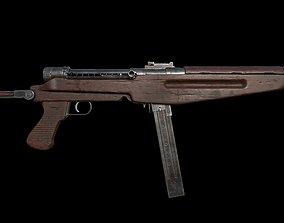 3D asset low-poly Low poly 43M Submachine gun