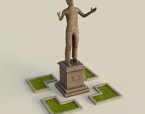 Low poly Statue 3D asset VR / AR ready