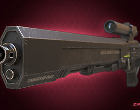 3D Sci-fi Sniper Rifle