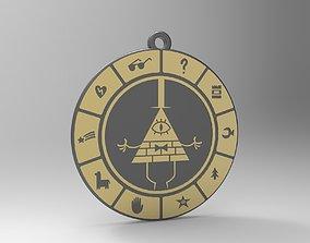 3D printable model Bill Cipher Zodiac Pendant