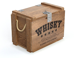 3D model Whisky Wooden Crate