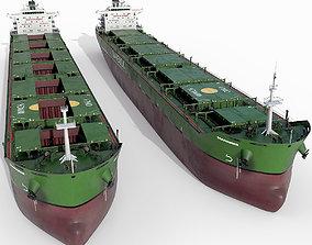 cargo Bulk carrier Green 3D