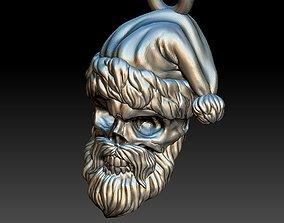 Santa Claus skull pendant 3D print model