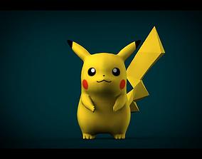 3D asset Pikachu