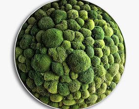 3D panel moss boulder minimalism