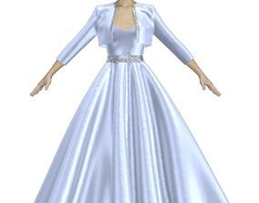 Beautiful princess gown 3D