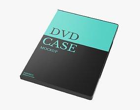 Closed DVD case mockup 3D model