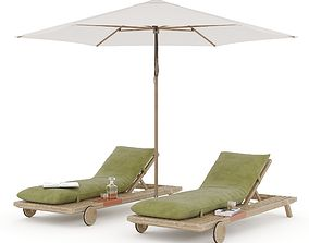 Prestoria Umomoku Outdoor Lounge Set 03 3D model