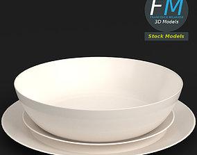 Basic dinnerware set 3D