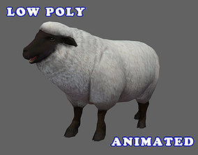 Low Poly Sheep 3D Model - Animated animated