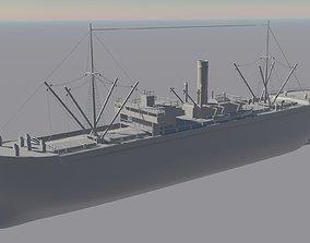 3D model 1900s Cargo Ship