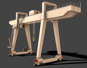 PBR Double Girder Gantry Crane V1 - 3D model