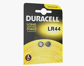 LR44 Duracell Batteries Package 3D model