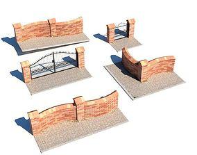 Brick Walls Gates 3D
