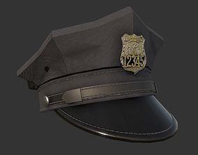 Police Officer Hat Uniform Game Ready 3D model