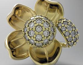 3D printable model Earrings Water Lily