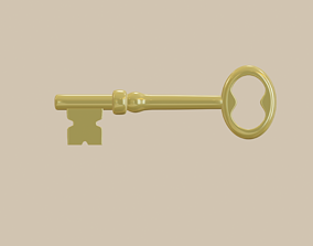 3D asset Key Low Poly