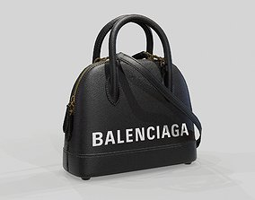 3D model Balenciaga Ville Top Handle XXS Bag Black