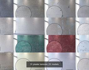 3D 51 plaster textures
