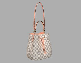 Louis Vuitton Neonoe MM Bag Damier Ebene Venus Pink 3D 1