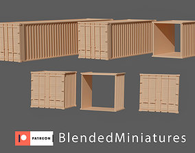 Terrain bundle container barrel barricade 3D print model