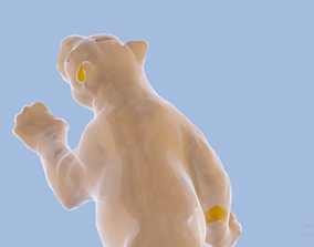 glass leopard 3D model animated