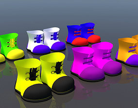 3D model low-poly Cartoon Shoes