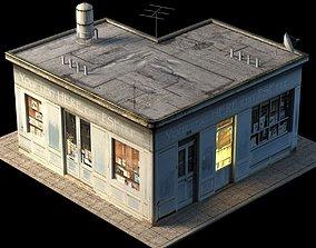 Small Shop Building 3D asset