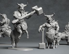 Bull Centaur - 3D printable character 3D print model